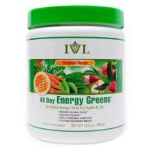 IVL Hi-Octane All Day Healthy Energy Greens Powder, 30 Servings per Canister, Original Flavor