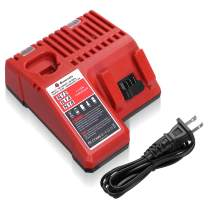 Powerextra M12 & M18 Rapid Replacement Charger for Milwaukee 48-59-1812 M12 or M18 M14 Lithium Battery 48-11-2420 48-11-2440 48-11-1820 48-11-1840 48-11-1850 48-11-2401 48-11-1890
