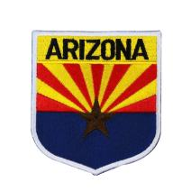 State Flag Shield Arizona Patch Badge Travel USA Embroidered Iron On Applique