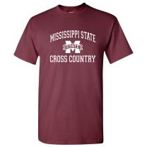 NCAA Arch Logo Cross Country, Team Color T Shirt, University