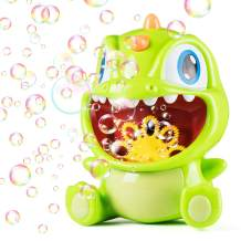 Aubllo Bubble Machine for Kids Dinosaur Toys Bubble Blower Bath Bubble Maker Automatic Over 500 Bubbles Use 3 AA Batteries Summer Toys for Kids Toddlers Boys Girls Baby Outdoor Birthday Wedding Party
