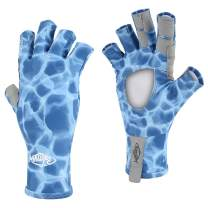 Palmyth UV Protection Fishing Fingerless Gloves UPF50+ Sun Gloves Men Women for Kayaking, Hiking, Paddling, Driving, Canoeing, Rowing