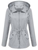 ANGVNS Women's Waterproof Rain Jaket Versatile Utilitarian Warm Anorak Drawstring Raincoat Military Cargo Mesh Hooded Jacket