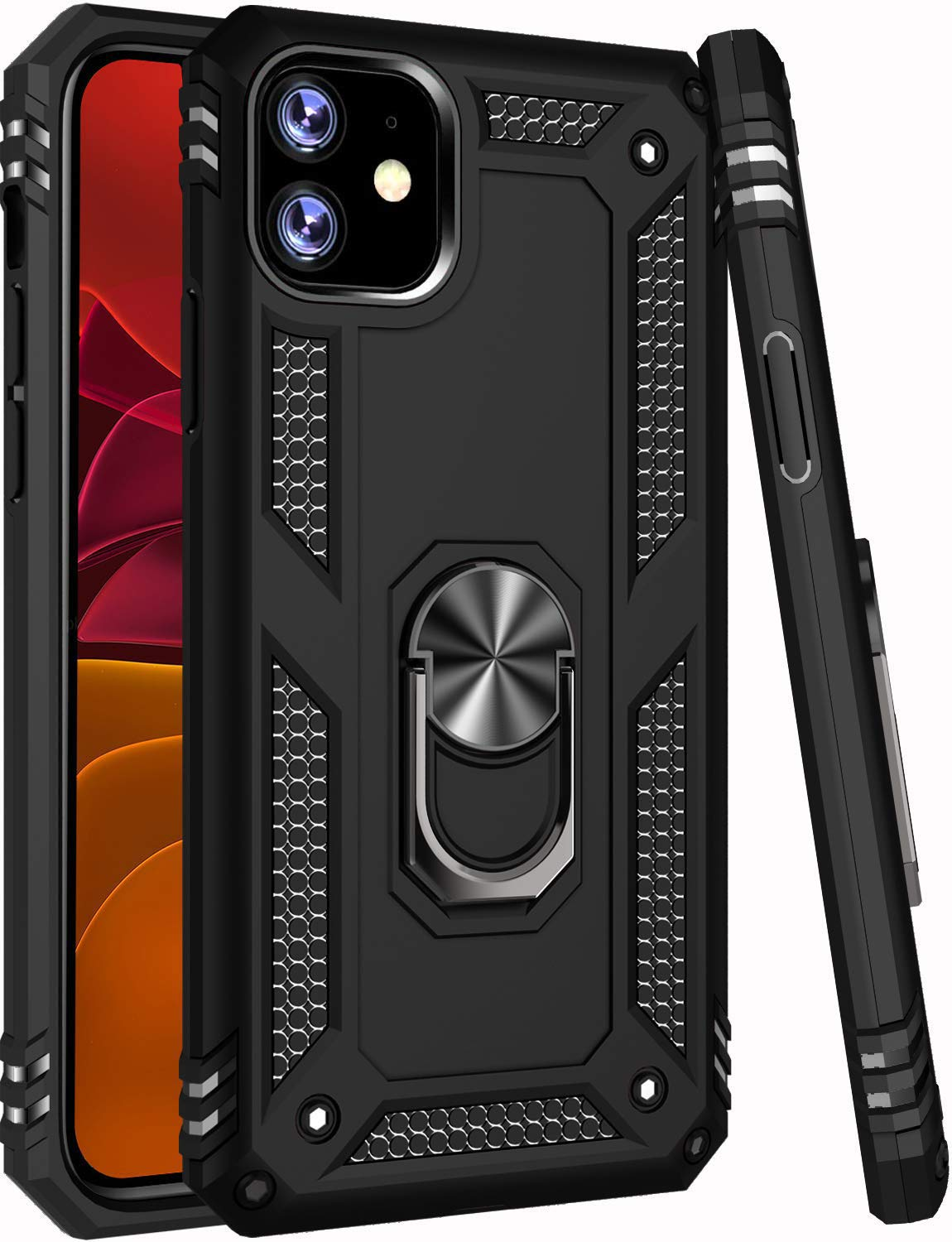 ZADORN iPhone 11 Case,15ft Drop Tested, Military Grade Heavy Duty Rugged Armor Cover Hard PC and Soft TPU Protective Phone Case for iPhone 11 6.1 inch 2019 Black