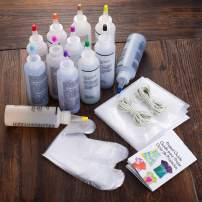 KISSBELLY 8 Colours One Step Tie Dye Kit Shirt Fabric Textile Paints Dying Kits Permanent Clothes Graffiti Jacquard Pigment for Adults Kid