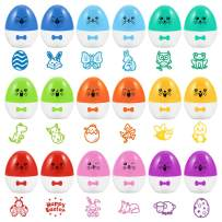 Assorted Stamps for Kids, Animal Stampers for Birthday Summer Party Favors, Teacher Stamps, Classroom Prizes, Easter Basket Stuffers - 18 Pack with Different Patterns
