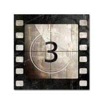 Vintage Countdown III by Color Bakery, 35x35-Inch Canvas Wall Art