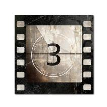 Vintage Countdown III by Color Bakery, 14x14-Inch Canvas Wall Art