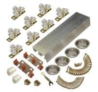 Johnson Hardware 138F Series Sliding Bypass Door Hardware (96 Inch - 4 Door System)