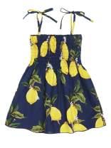 Jurebecia Baby Girls Summer Dress Outfits Ruffle Strap Sunflower Print Skirt Toddler Sunsuit Beachwear Clothes Set 1-6 Years
