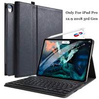 """iPad Pro 12.9 Case with Keyboard 2018 3rd Gen- COO Wireless BT Detachable Keyboard - Magnetic Leather Case Cover with Apple Sleep/Wake - Thin & Light - Not for 2017/2015 Released 12.9"""" iPad"""