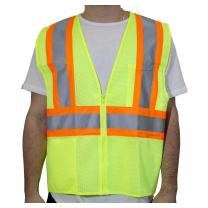 Rugged Blue RB-2HVVTT-L/XL ANSI Class 2 Hive's 2-Tone Mesh Safety Vest, Polyester, Yellow, Large/XL