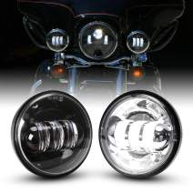 4.5 Inch Led Fog Light for Motorcycles Auxiliary Light Bulb Motorcycle Projector Driving Lamp, 1 Pair