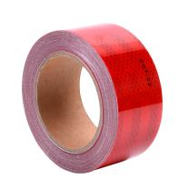 """2""""x 40' Dot Class 2 Reflective Tape Roll Micro Prismatic Sheeting Safety Warning Conspicuity Tape Film Sticker(Red)"""