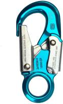 ProClimb Forged Aluminum Snaphook - Double Action Self Locking Gate, Captive Eye 23 kN - Blue