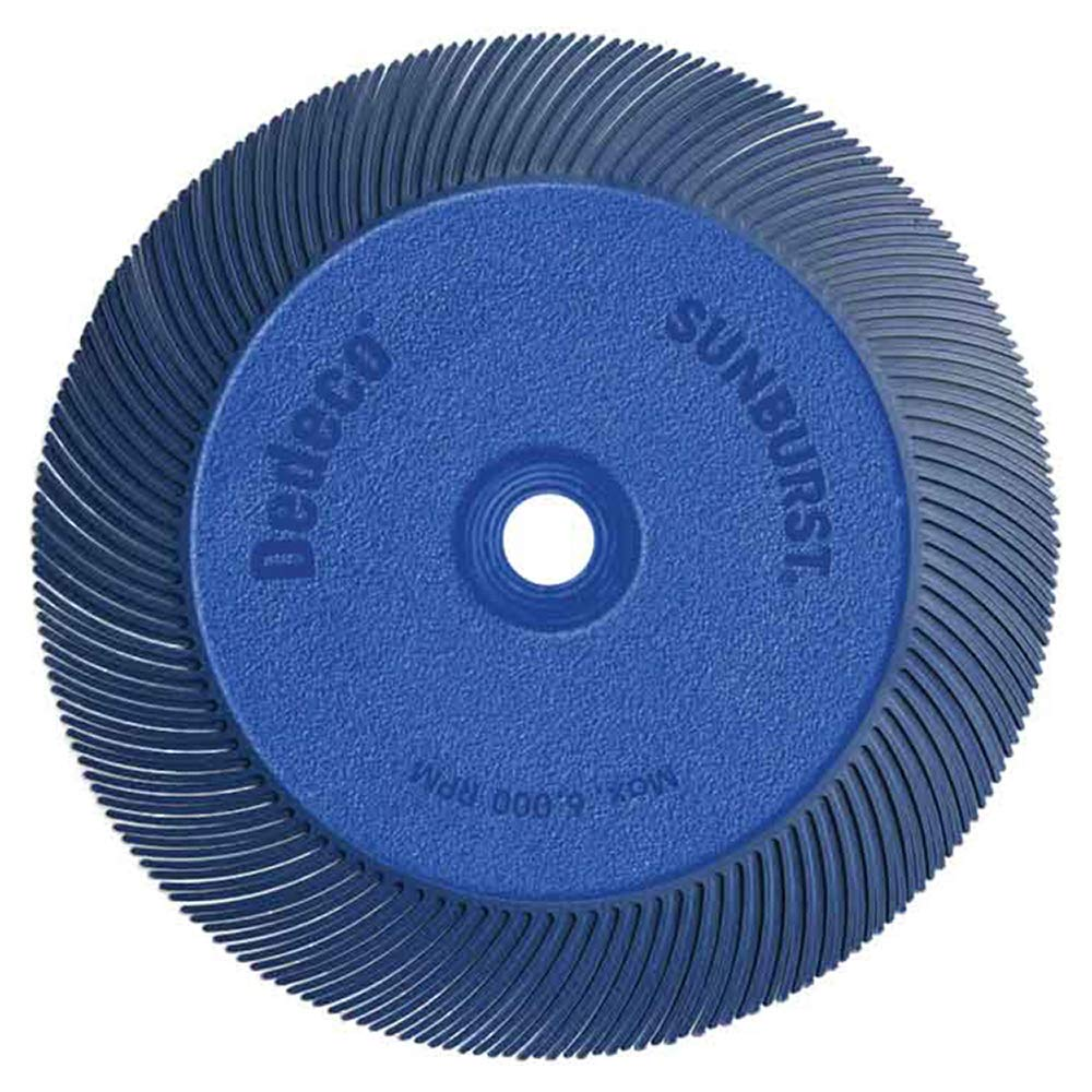 """Dedeco Sunburst -7-5/8"""" x 1"""" TC Radial Bristle Discs - 1/2"""" - Industrial Thermoplastic Rotary Cleaning and Polishing Tool, 5/8"""", 3/4"""", 7/8"""" and 1"""" Arbor, Fine 400 Grit (1 Pack),"""