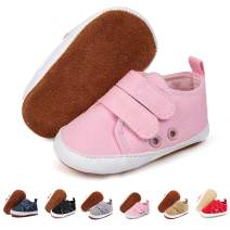 COSANKIM Baby Girls Boys Shoes 100% Leather Anti-Slip Soft Sole Canvas Infant Sneakers Newborn Toddler First Walker Crib Shoes