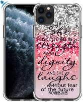 Case for iPhone 11 Pro Max & MUQR Gel Silicone Slim Drop Proof Protection Cover Compatible for iPhone 11 Pro Max & Silicone Christian Rubber Protective Bible Songs Lyrics