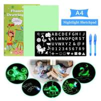 itkidboy Night Light Drawing Board Child Sketchpad PVC Scribbler Boards Toys Gift Luminous Drawing Board (A4)