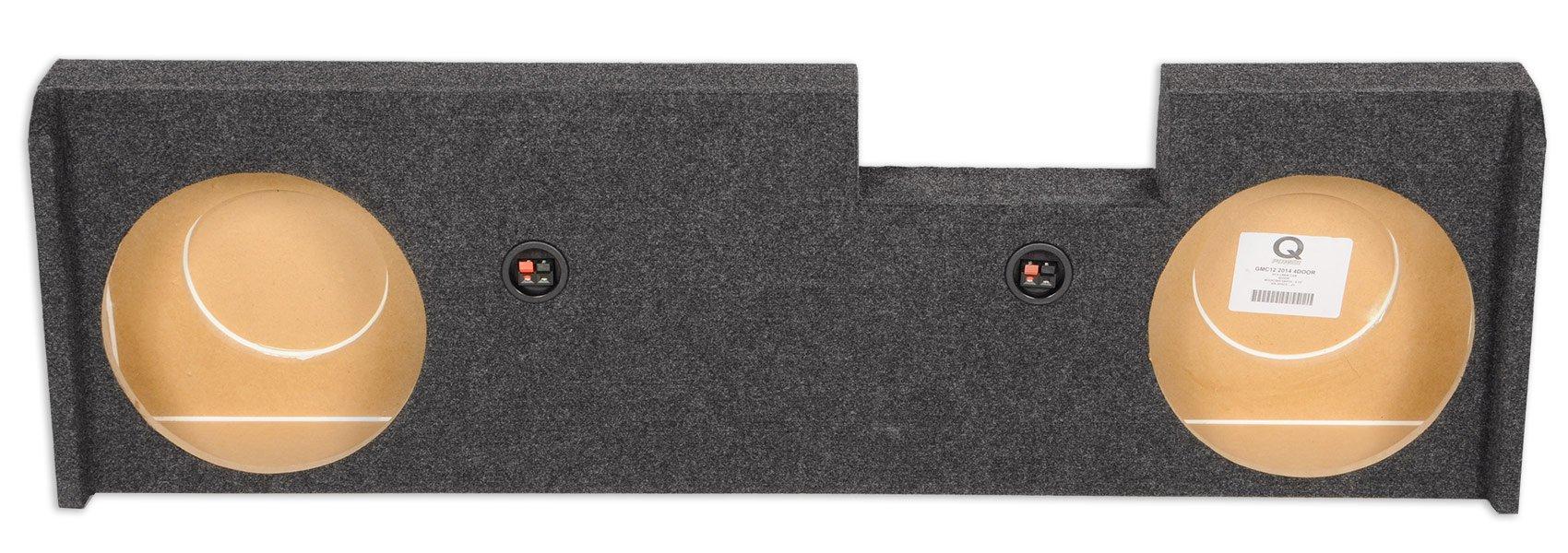"Rockville Dual 10"" Sub Enclosure Box for 2014 and Up GMC/Chevy Sierra/Silverado"