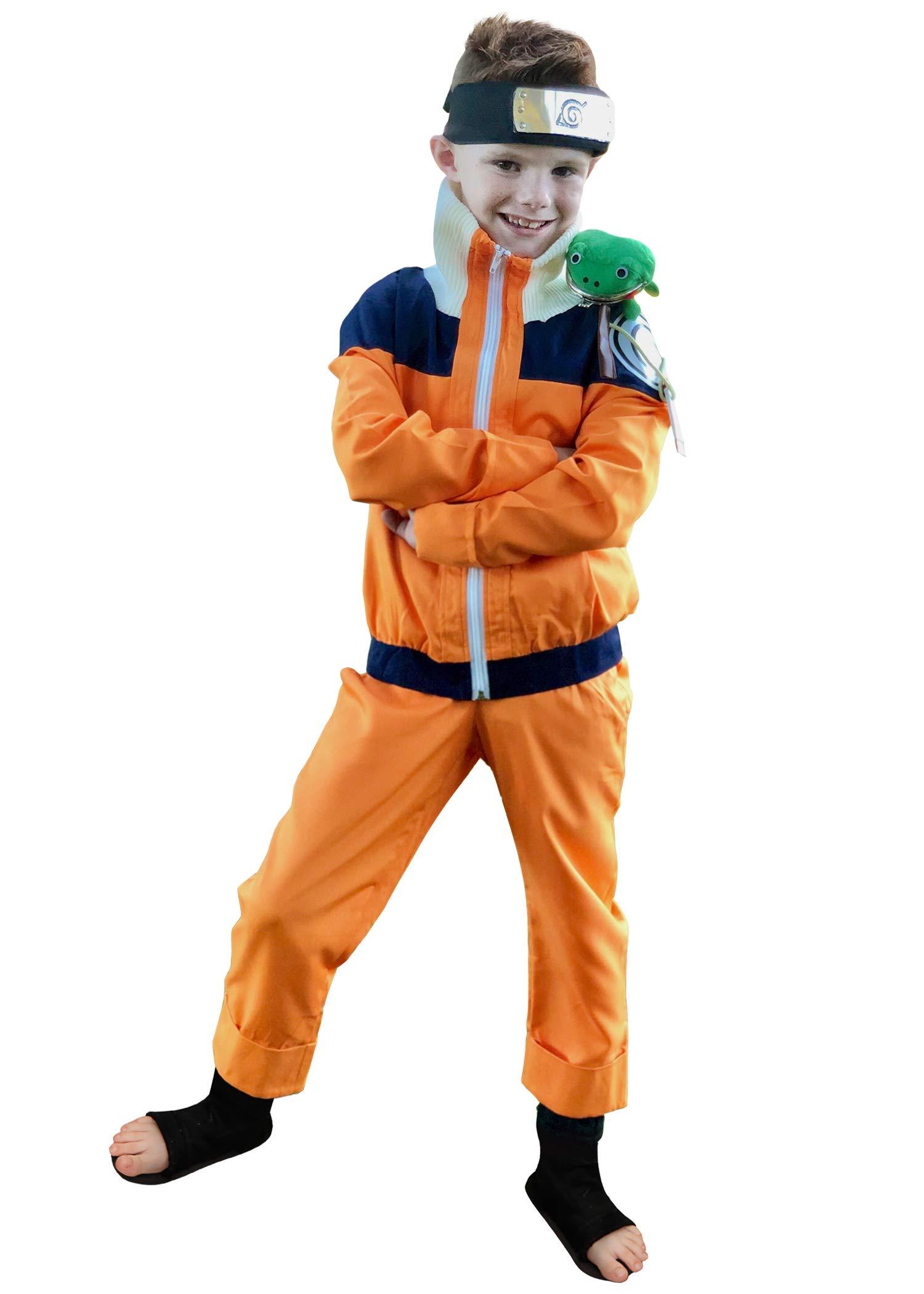 DAZCOS Child Size for Uzumaki Shippuuden Kids Cosplay Costume