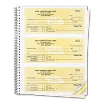 CheckSimple Customized Cash Receipt Books, 3-Per-Page w/ 3-Part Duplicates, Wire-Bound Book, Yellow (500 Receipts)