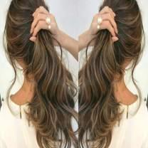 Brazilian Human Hair Extension 50g 20Pcs Ash Brown #8 to Light Blonde Seamless Straight Human Hair Extensions (16 Inch, P4/27 py)