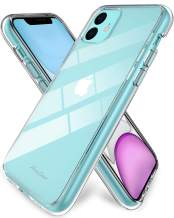 Procase iPhone 11 Case Clear, Hybrid Slim Crystal Clear Case Shock-Absorption Anti-Scratch Bumper Cover Protective Case with Soft TPU + Hard PC Back Cover for iPhone 11 6.1 Inch 2019 –Clear