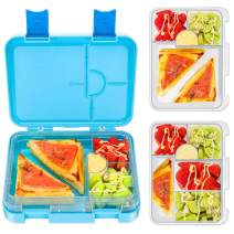 Bento Box for Kids, Tritan-Made 100% BPA Free Lunch Box for kids, Removable Large Capacity Inbox Design, Durable, Meal and Snack Packing (BLUE)