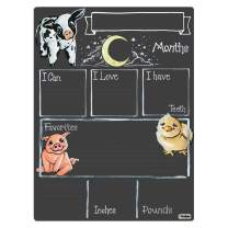 Cohas Monthly Milestone Board for Baby with Farm Theme, Reusable Chalkboard Style Surface, and No Liquid Chalk Marker, 9 by 12 Inches, No Marker