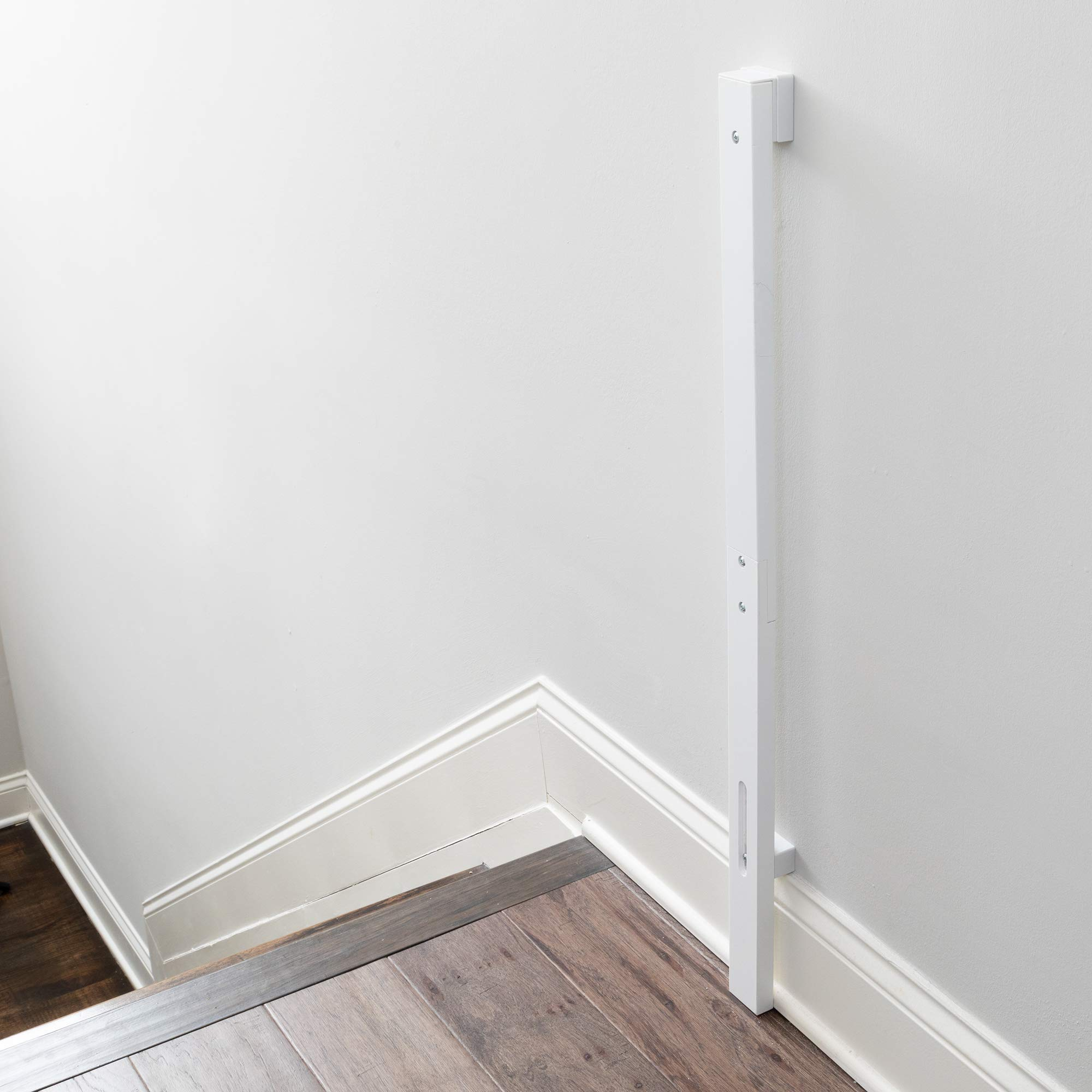 Qdos Universal Baseboard Kit for All Baby Gate - Professional Grade Safety - Universal Solution for Gate Installation Over a Baseboard - Works with All Gates - Easy Installation   White