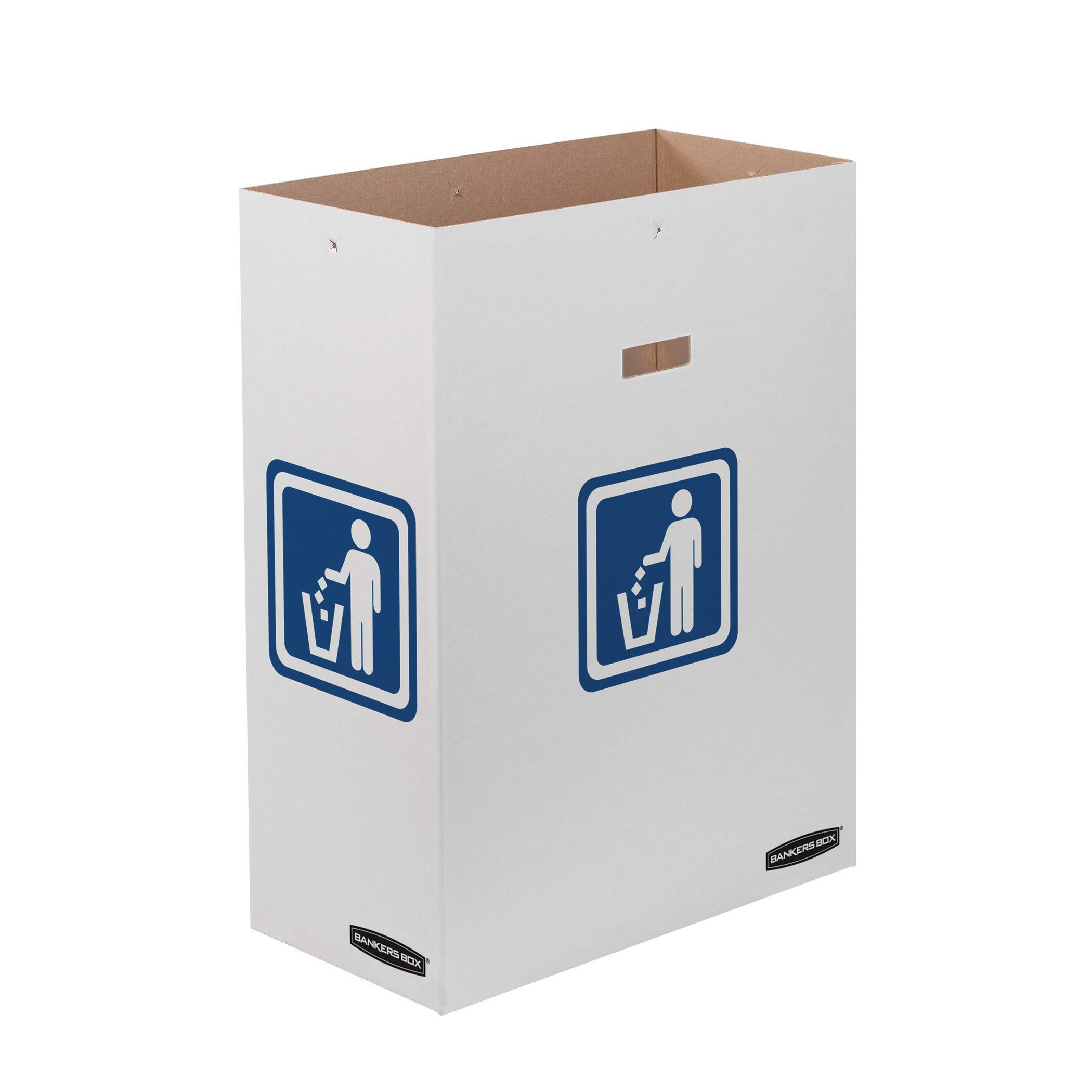 Bankers Box Slim Waste and Recycling Can, 23 Gallon, 10 Pack (7320601)