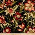 Tommy Bahama Indoor/Outdoor Botanical Glow Fabric, Ebony