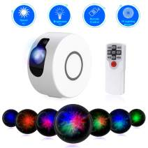 Star Night Light Projector, Sky Starry Galaxy Projector LED Nebula Cloud Light with Remote Control, 15 Lighting Modes for Game Rooms, Home Theatre, Children Kids Baby Adults Bedroom Party Dec-White