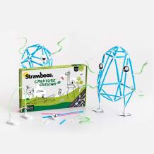 Strawbees Creature Creator Kit STEM Building Set, 400 Pieces