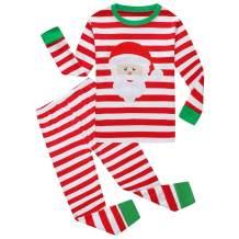 Hycles Christmas Pajamas Sets for Little Big Girls Boys Santa Claus Sleepwear Cotton Kids PJS for 2-12 Years Toddler Kids