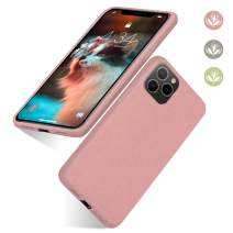 """abitku Eco-Friendly Phone Case iPhone 11 Pro, Biodegradable Slim Fit Straw Phone Cases Soft Protective Back Cover for iPhone 11 Pro 5.8"""" (2019) (Pink)"""