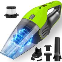 Holife 8KPA Portable Handheld Vacuum Cordless, 22.2V Powerful Suction Hand Vac Cleaner, 100W High-power Rechargeable Lithium Battery & Carry Bag Wet Dry Hand Vacuum for Home Pet Hair Car Dust Cleaning