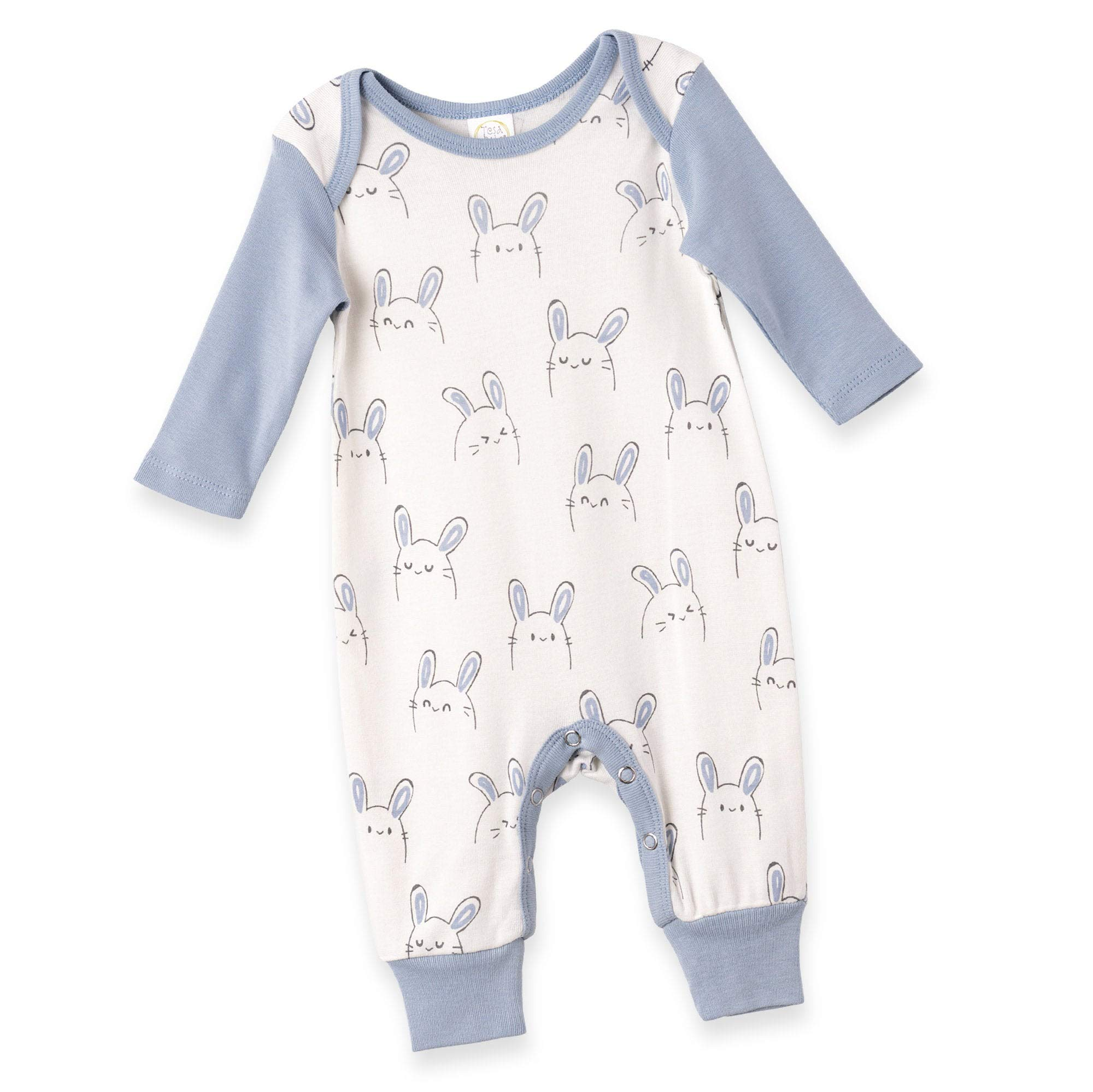 Tesa Babe Baby Easter Romper for Newborn Boy Girl Infant to Toddler in Bunny Print, Multi