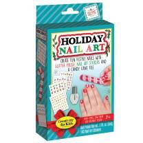 Creativity for Kids Holiday Nail Art Mini Kit – 163 Festive Christmas and Holiday Nail Art Stickers – Glitter Nail Polish