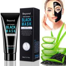 Beyond Black Mask, Blackhead Remover Mask, Charcoal Face Mask Peel Off, Deep Cleansing Purifying, Oily Skin Control, Skin Care with Bamboo Charcoal, Aloe Vera, and Vitamin E, 2.11 fl.oz