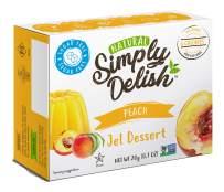 Simply Delish Natural Peach Jel Dessert - Sugar Free, Non GMO, Gluten Free, Fat Free, Vegan, Keto Friendly - 0.7 OZ (Pack of 12)