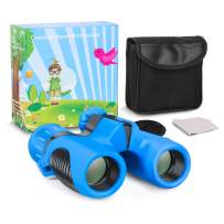 Kids Binoculars, Shock Proof 8x21 Kid Binoculars Toy Gift,High Resolution & Real Optics with Folding Spotting Telescope for Bird Watching, Hunting,Hiking,Christmas/Birthday Presents for Boys and Girls