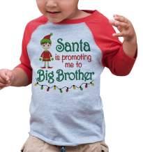 7 ate 9 Apparel Big Brother Christmas Raglan Shirt Red