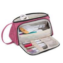 Luxja Bag for Cricut Pen Set and Basic Tools, Carrying Case for Cricut Accessories (Bag Only), Red