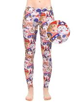 Women's American Flag Red White and Blue Leggings - Patriotic USA Tights