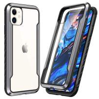 SmartDevil Shatterproof Series Designed for iPhone 11 Cases, Passed Military Grade Drop Test, Anodized Aluminum, TPU, and Hard PC Protective Case for iPhone 11 6.1 Inch (Gray)