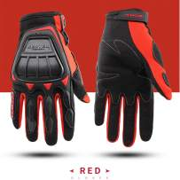 SCOYCO Summer Ventilate Full finger Wolf Claw Design Knuckle Protective Breathable Cycling Motorcycle Gloves (RED,XL)
