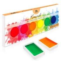 Neon Komorebi Watercolor Paint Set, with 6 Vivid Colors, Portable and Lightweight, Perfect for Artists, Students and Hobbyists - MozArt Supplies