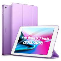 ESR Yippee Trifold Smart Case for iPad 9.7 2018/2017, Lightweight Smart Cover with Auto Sleep/Wake, Microfiber Lining, Hard Back Cover for iPad 9.7 iPad 5th / 6th Generation, Lavender